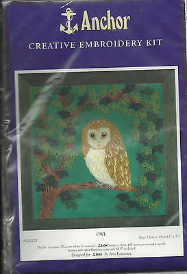 Owl Creative Embroidery Kit
