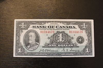 1935 $1 Bank of Canada King George V