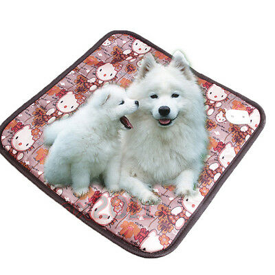 Waterproof Pet Electric Heating Heater Pad Mat Blanket Bed Dog Cat 20W-45*45cm