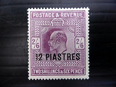 BRITISH LEVANT 1902 Ed.VII - 12p SG11b Mounted Mint NEW PRICE FP8587