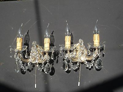 A Pair of very pretty vintage French Maria Theresa wall lights  (MD039)