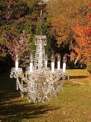 A gorgeous Vintage French 8 arm Maria Theresa chandelier(MD034)