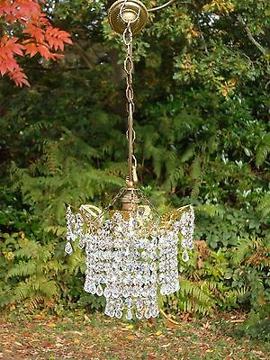 Very Pretty Petite unusual Swarovski Chandelier (C2)