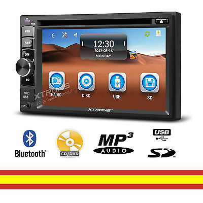 Autoradio CD Dvd mp3 USB SD 2 din Universal Bluetooth Pantalla tactil 6,2""