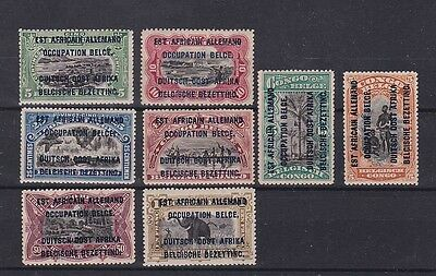 german E.africa 1916 occup.stamps Sc N17/24,set    g75