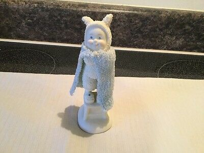 Department 56 Time For Super Bunny! Figurine 2010 Snow Baby