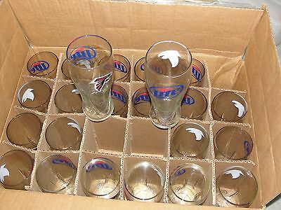 ATLANTA FALCON NFL SUPER BOWL 23 MILLER LITE EMBOSSED 16oz PILSNER STYLE GLASSES
