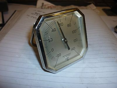 Rare Rototherm Art Deco Thermometer not bakelite. working.