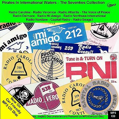 The 70s Collection of Pirate Radio Broadcasts 40hrs NOW on Car Friendly MP3 Disc