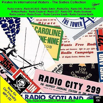 The Sixties Collection of Pirate Radio Broadcasts 30hrs NOW on Car Friendly MP3