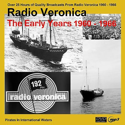 Pirate Radio - Radio Veronica Early Years 1960-66 (25hrs on MP3 DVD Disc)