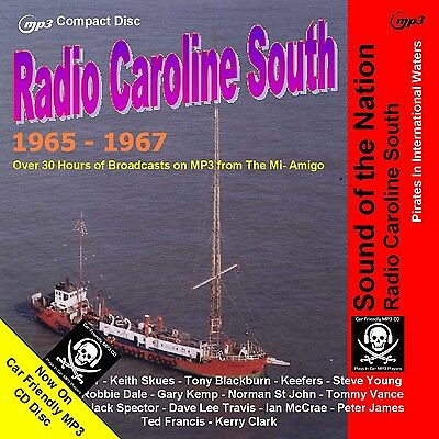 Pirate Radio Caroline South 65-67 Volume One 30hrs NOW on MP3 Car Friendly Disc