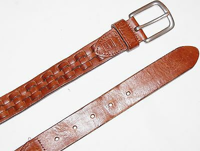 mens brown leather RALPH LAUREN leather belt size 36""