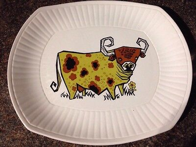 Beefeater Steak Plate English Ironstone Pottery Cow