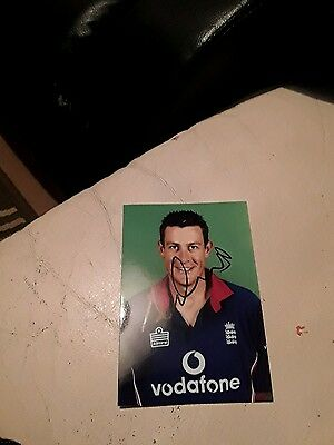 Ex England Cricketer Ashley Giles Hand Signed Autograph