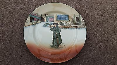 Vintage Royal Doulton Dickens Ware Plate - Mr Squeers - Noke Signature