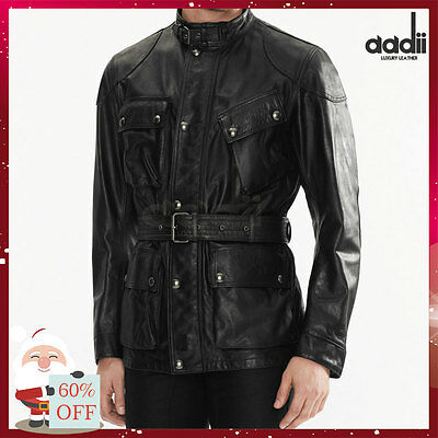 BELSTAFF THE PANTHER STYLE REAL LEATHER JACKET (Christmas Discount)