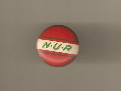 N.U.R.  tin badge