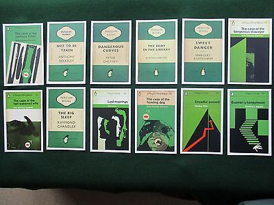 Penguin Book Cover Postcards - Crime - 12 New Postcards