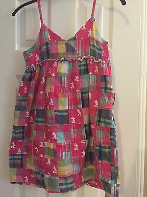 Authentic Disney Parks Girls Madras Dress Size Large Mickey Mouse