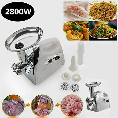 2800W Electric Stainless Steel Meat Sausage Maker Multifunctional Mincer Grinder