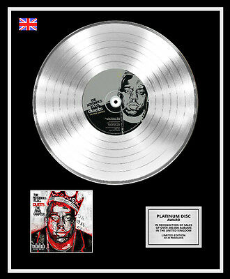THE NOTORIOUS B.I.G. Ltd Edition CD Platinum Disc Record DUETS THE FINAL CHAPTER