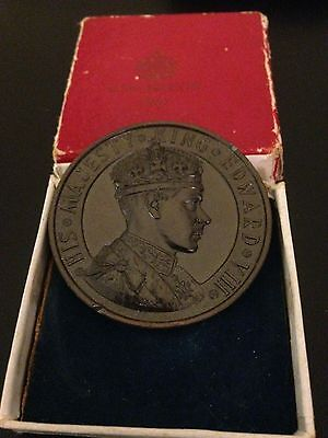 Genuine *SCARCE* Edward VIII Official Coronation Medal 1937  - (& Original Box)