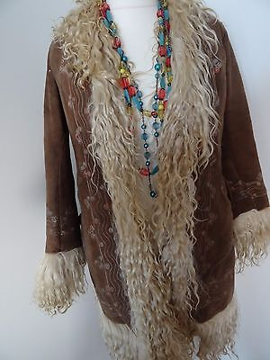 GENUINE VINTAGE 60s/70s AFGHAN COAT   IN EXCELLENT  CONDITION  FITS SIZE 10-12