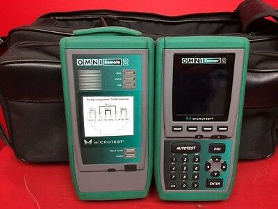 MICROTEST OMNISCANNER 2 Cat5e Cat6 DIGITAL CABLE ANALYZER REMOTE 2 W/CASE