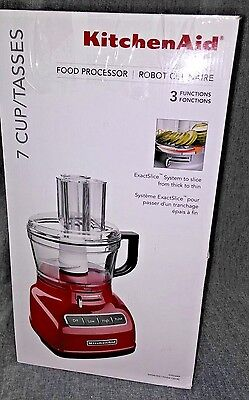KitchenAid 7 cup Food Processor Exactslice Sys Thick/Thin Slice RR-KFP0722ER Red