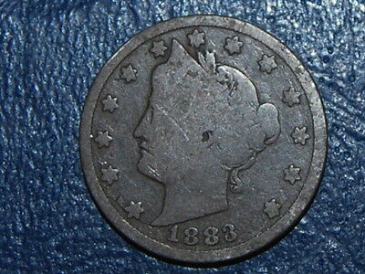 1883 5C With CENTS Liberty Nickel Dark Coin  (698)