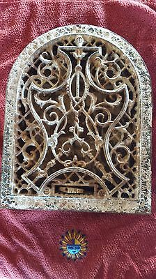 ANTIQUE ARCH Cast Iron Heat Register Grate Vent Vintage