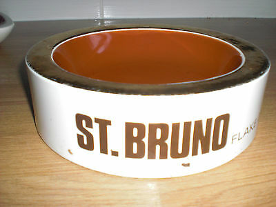 """VERY OLD BURLEIGH WARE ST. BRUNO 19cm ( 7 """" ) ROUND ASHTRAY WITH GOLD RIM"""