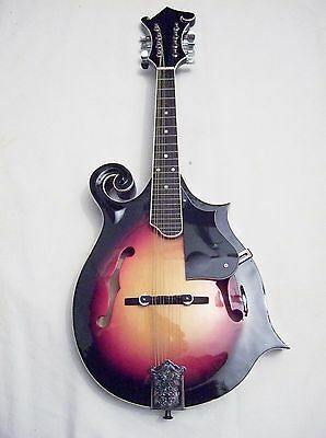 New F Style mandolin Sunburst nice low action plays well would suit beginner