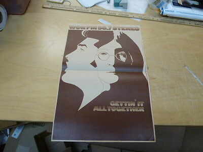 WOR 98.7 FM poster with john lennon and elvis presley