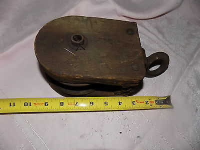 old WOOD barn  PULLEY ANTIQUE