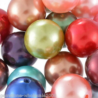 "Wholesale W09 Acrylic Spacer Beads Smooth  Mixed 20mm(6/8"")Dia."