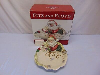 Fitz and Floyd Gregorian Santa Christmas Serving Bowl
