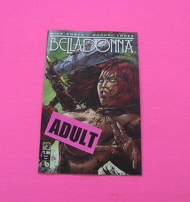 BELLADONNA # 3 Comic ADULT COVER 2016 BOUNDLESS SEXY
