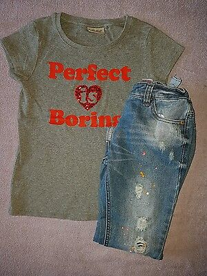 next age 6-7 years grey perfect is boring top and jeans