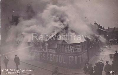 Rp Caversham Garage On   Fire Disaster Taylor Real Photo Reading Berkshire 1911