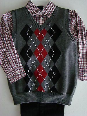 *NEW* Boys Size 5 ~ Van Heusen ~ 3 pc outfit ~ Christmas ~ Long Sleeve/Vest/Pant