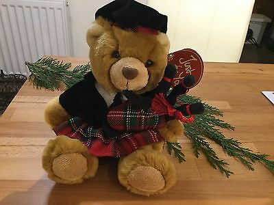 Teddy Bear In Kilt With Bagpipes