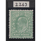 GB Stamps Edward V11 1/2d Dull Green with CERT