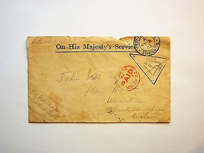 Boer War 1902 Soldier's Mail Cover To Ulverston England With Markings