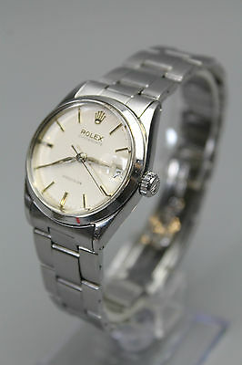 Vintage Rolex Oyster Date Precision Mid Size Stainless Steel Bracelet Watch