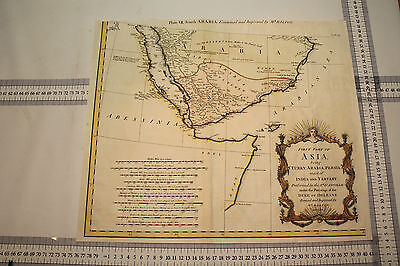 Antique Map - First part of Asia being Turkey,Arabia,Persia, India and Tartary