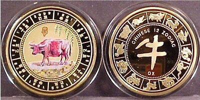 "Chinese Lunar Zodiac ""year Of The Ox"" Coin"