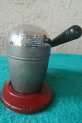 Vintage Juice-King Red Space Age Enamel & Chrome Juicer, Model J.K. 35 U.S.A.