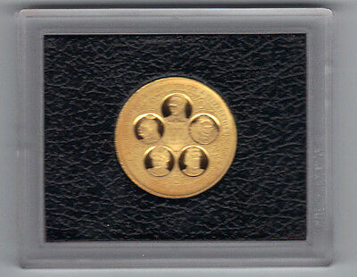 Cayman Islands-1975-$100 GOLD PROOF COIN-.365 ounce gold content